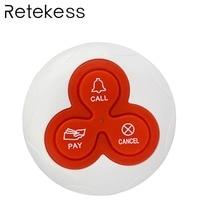 Беспроводной звонок пейджер кнопка вызова передатчик система вызова для ресторана отеля 433 МГц F4413B