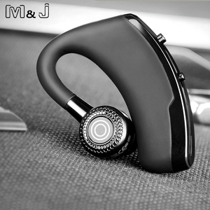 Image 4 - M&J V9 Handsfree Business Bluetooth Headphone With Mic Voice Control Wireless Bluetooth Headset For Drive Noise Cancelling
