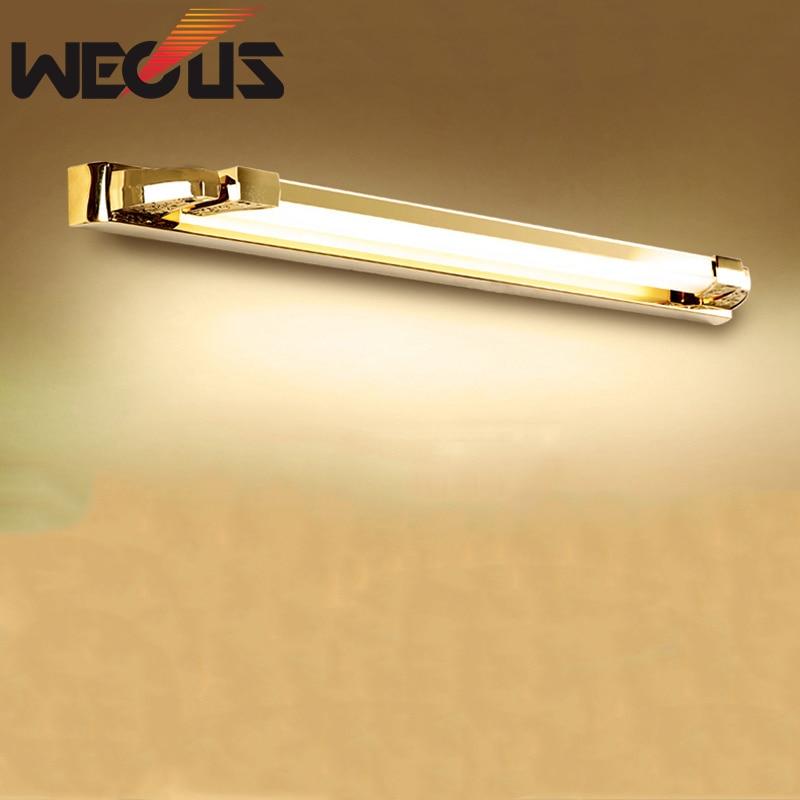 Nordic spiegel koplamp gouden body anti-condens badkamerspiegel licht - Binnenverlichting