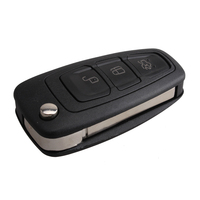 Flip Folding 3 Button Remote Key Fob 433mhz With 63 Chip Replacement Car Key For Ford