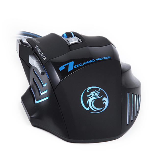 Professional Wired Gaming Mouse 5500 DPI Silent Mause 7 Buttons Cable USB LED Optical Gamer Mouse  For PC Computer Game Mice X7