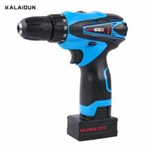 KALAIDUN 25V Electric Screwdriver Mobile Electric Drill Power Tools Screwdriver Lithium Battery Cordless Mini Hand tool