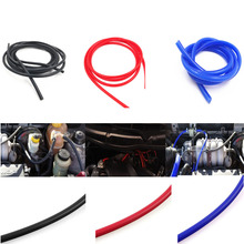 New arrive 1M Length 3mm 4mm 6mm 8mm Vacuum Silicone Hose Intercooler Coupler Pipe Turbo
