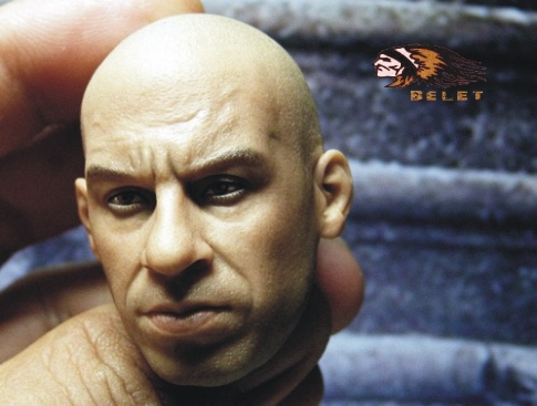 BELET1/6 Fast and Furious Vin Diesel  headsculpt for DIY12in doll Parts Male head shape ,Not include the body and clothes купить