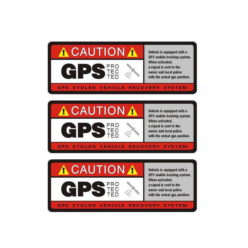 YJZT 3X 10.2 CM * 3.8 CM avertissement avertissement GPS protégé autocollant de voiture autocollant PVC 12-0912