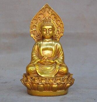 wedding decoration China Buddhism temple bronze Gilt Sakyamuni Shakyamuni Amitabha Tathagata statue