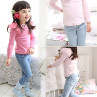 Free shipping Children's clothing spring/autumn girl casual jeans trousers girl fashion pants