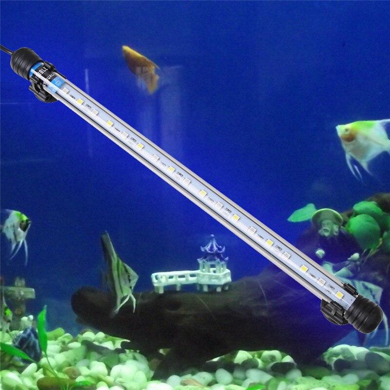 <font><b>led</b></font> aquarium <font><b>light</b></font> 37cm 5050 SMD 18 <font><b>LED</b></font> White Blue <font><b>Light</b></font> Bar Fish Tank Spot <font><b>Light</b></font> Submersible IP68 Waterproof Fish Lamp EU US UK