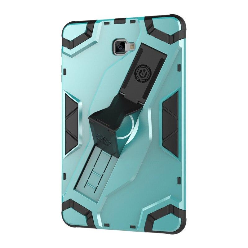 Armor TPU+PC Combine Hand Strap Escort Cover Kickstand Funda Case For Samsung Galaxy Tab A 10.1 T585 T580 SM-T580 SM-T585 T580N