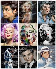 Full Round Drill 5D DIY Diamond Painting Marilyn Monroe & Elvis & Mike Jackson 3D Embroidery Cross Stitch(China)
