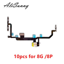 AliSunny 10pcs Power Volume Flex Cable for iPhone 8 Plus 8G 8P 8+ X Light Flash On Off Switch control Metal Bracket Part