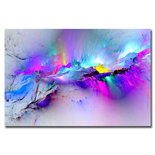 Cheap Abstract Wall Art Canvas Print Modern Printed Paintings Purple Cloud for Office Room Home Decor Drop Ship