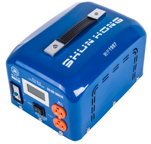 Fast Shipping SH-DB-3000VA 110v to 220v 3000W temperature control Step Down Voltage Converter Transformer Converts copper coil 1pcs lot sh b17 50w 220v to 110v 110v to 220v