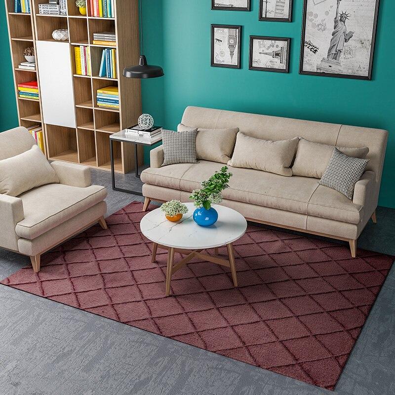 Tapis de luxe fait à la main nordique moderne Simple pour les tapis de chambre salon thé Table canapé tapis 100% laine tapis.