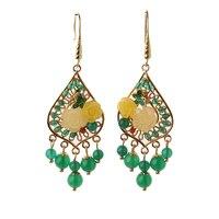 925 Silver Hook Hanging Earrings Bride Jewelry Gift Dangle Hook For Women Fashion Wholesale Long Earrings