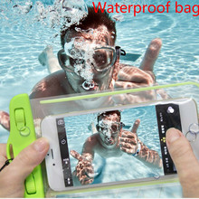 Universal waterproof cases Bag underwater light box swim phone pouch cover fluorescent for iPhone 6s plus xiaomi