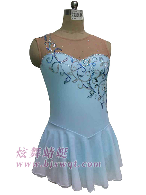 light blue ice skating dress for women competition dresses ...