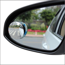 2pcs Car Blind Spot Mirror HD Glass 360 Degree Car Mirror Wide Angle Round Convex For Rear View Mirror Rearview Sticky Mirrors vodool 2pcs frameless car blind spot mirror 360 degree adjustable wide angle convex rear view mirror car parking rearview mirror