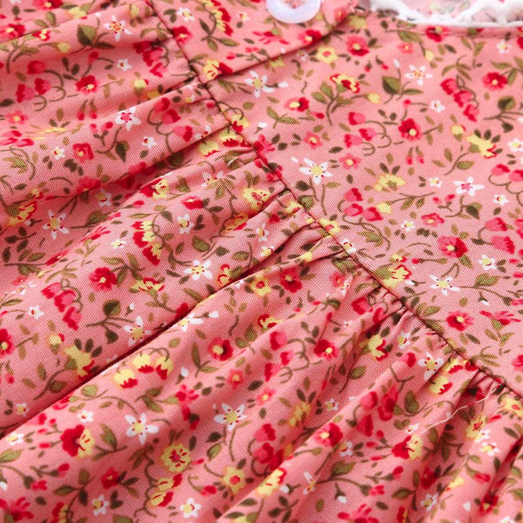 Bebé niño chicas manga vestido de estampado Floral de encaje vestido ropa trajes traje Fille Hiver traje princesa Enfant Fille