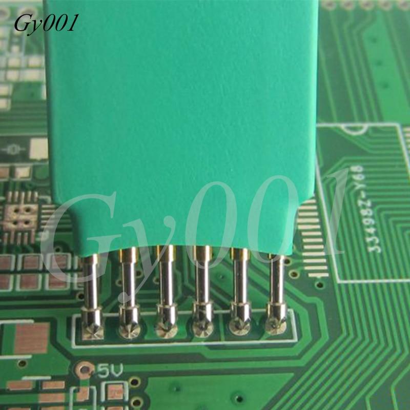 Burn The Download Line Thimble 2.0mm/2.54mm/3.0mm 6P Write Program Probe Test Needle Spring Pin 6 Feet