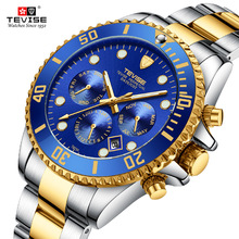 Tevise Automatic Mens Mechanical Watches Sport Luxury Brand Gift Box Waterproof Self Winding Wrist
