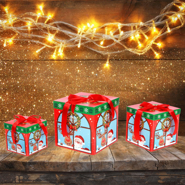 2018 new 3 pcsset beautifully folded colorful christmas gift box christmas apple box christmas