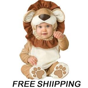 Image 3 - Macacão infantil cosplay de animais, fantasia de dia das bruxas para meninos e meninas, macacão para bebês, carnaval, 2020