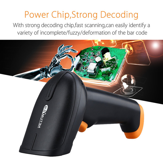 Wireless Barcode Scanner 2.4G 30m Laser Bar Code Reader Wireless/Wired For POS and Inventory -HW-S2 1