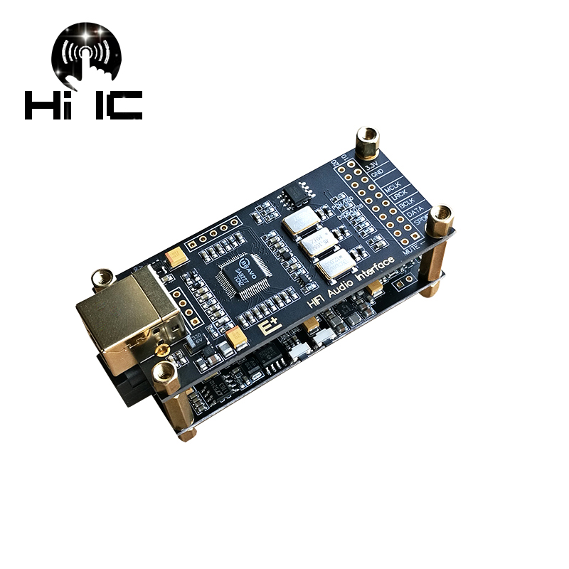 HIFI AUDIO Decoder SA9227+ES9038Q2M USB DAC ES9038 Asynchronous USB Module OPA1612 + AD8397/Double NE5532 DSD128 32Bit / 384Khz