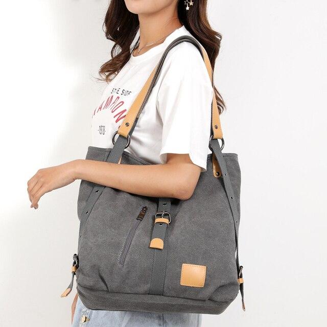 Women Fashion Casual canvas Tote Handbag Multifunctional Female Bag High Quality Shoulder Bag 5