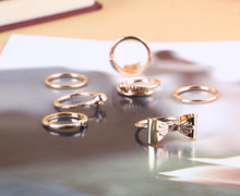 Fashion Amazing Hot Sale GOld Bow Ring Jewelry Vintage RIngs For Women