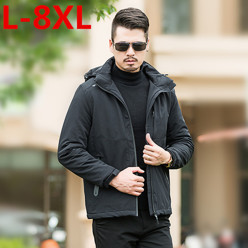 2017 large size 8XL 7XL 6XL Pioneer Camp New brand clothing thicken men winter jacket top quality male warm winter coat fashion camp safety oval xl 3lock