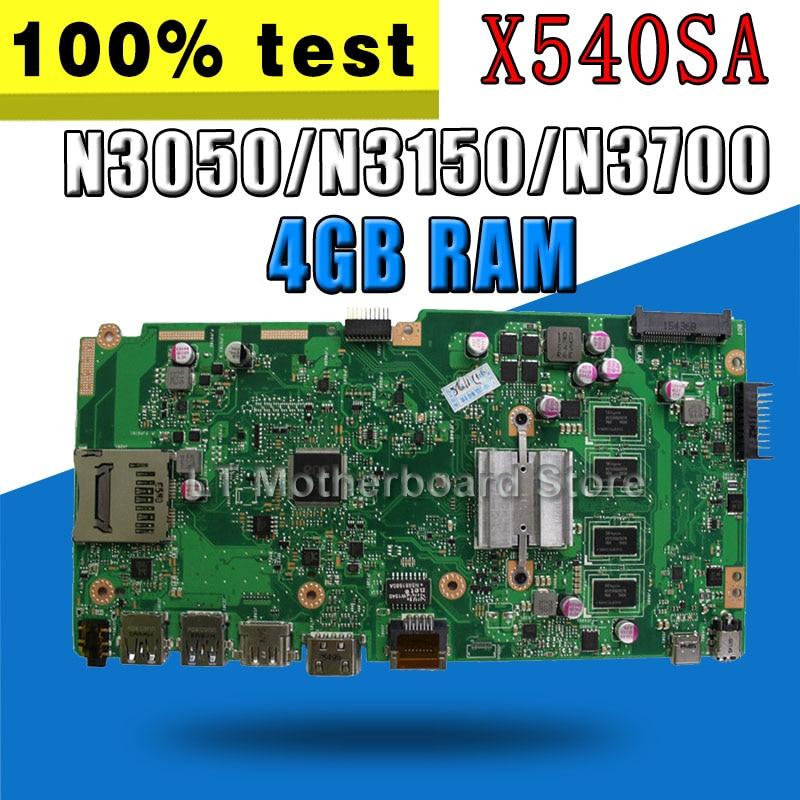 X540SA Motherboard 4G N3050/N3150/N3700 For ASUS X540SA X540S X540 F540S Laptop motherboard X540SA Mainboard X540SA Motherboard x540sa motherboard 2g ram n3050 for asus x540sa x540s x540 f540s laptop motherboard x540sa mainboard x540sa motherboard test ok