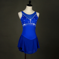 Sexy Latin Dance Dress for Ladies Blue Figure Competitive Original Fashion Women Ballroom Girl Ice Skating Modern Costumes H8012