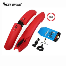 WEST BIKING Mudguard Bike Plastic Bicycle Fenders With LED Taillight Cycling Mountain Fender