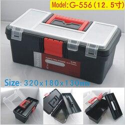 12.5 polegada caixa de ferramentas de plástico com alça, bandeja, bandeja do compartimento, o armazenamento e os organizadores G-510 32 toolbox * 18*13 CM
