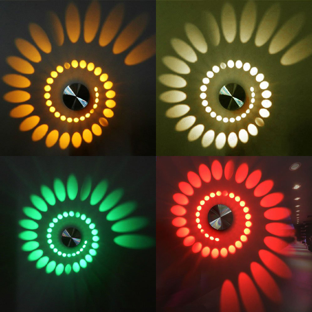 Modern 3W RGB LED Wall Light AC85-265V indoor Sconce KTV Karaoke Bar Living room bedroom wall Decoration Lamps Fixture