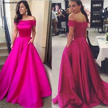 a025f685e8 Simple Bridesmaid Dresses 2019 Off Shoulder Pockets A Line Long ...