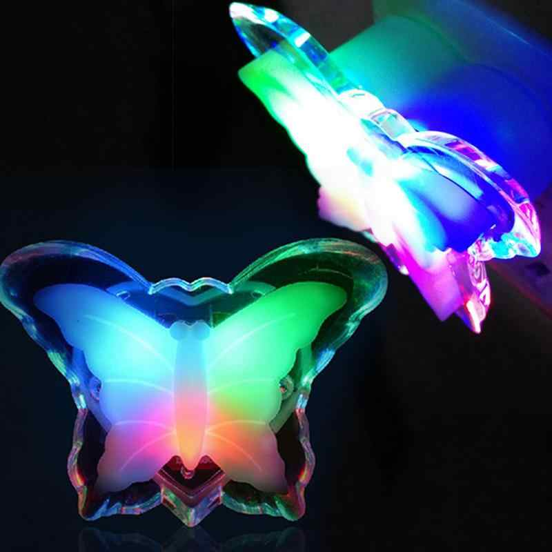 LED Butterfly Night Light Energy Saving Lovely Color RGB Romantic Wall Light Night Lamp Decoration Bulb For Baby Bedroom