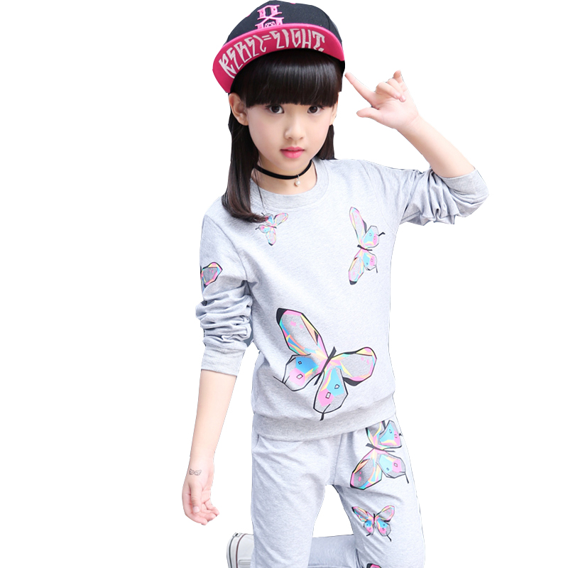 Baby Girl Clothing Sets Autumn Kids Sports Print Suit 10 12 Years Girls Clothes Suit For Children Teenage Children Long Sleeve teenage girls clothes sets camouflage kids suit fashion costume boys clothing set tracksuits for girl 6 12 years coat pants