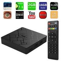 HK1 mini SMART TV BOX Android 7.1 2GB 16GB Amlogic S905W Quad Core Set Top Box H.265 4K HDMI 2.4G WiFi Media Player PK X96 mini