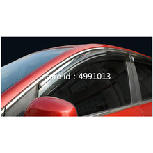 цена на Car Sticker Window Glass Wind Visor Rain Sun Guard Vent Word Frame Trim Lamp 4pcs For Suzuki Vitara 2016 2017 2018 2019