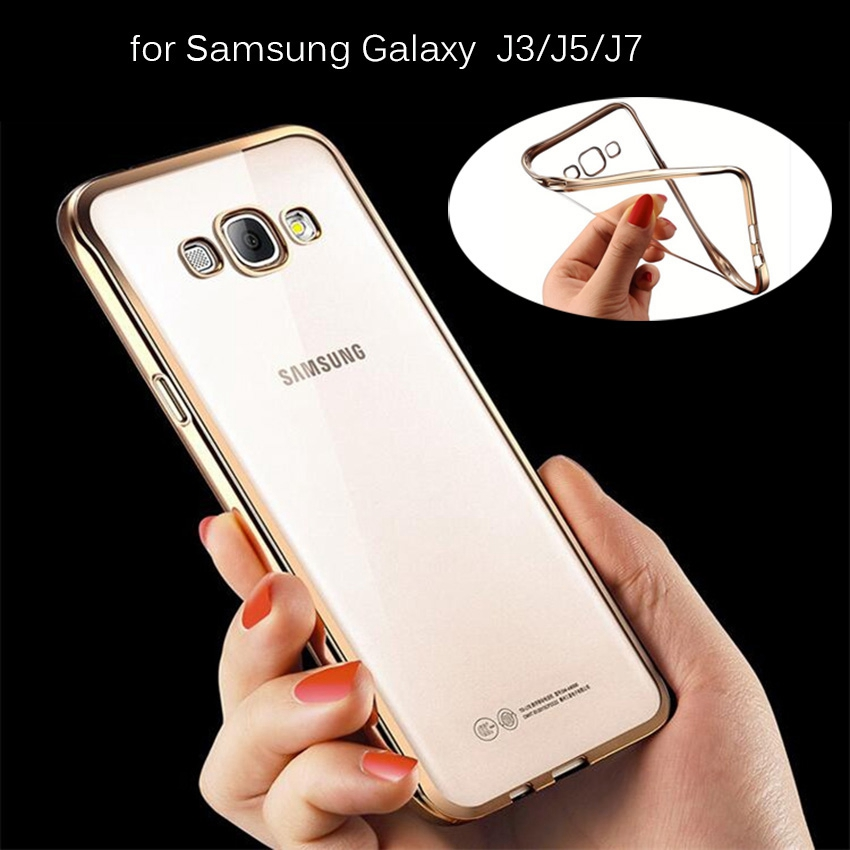 size 40 7dcb9 eec4d US $3.27 |2016 New TPU Electroplating Soft Case Cover for samsung J3 J5 J7  Luxury gold silver rose golden phone phone accessories on Aliexpress.com |  ...