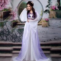 Ancient Chinese Costume Hanfu Cosplay Traditional Chinese Dance Costumes 4 Color Women Stage & Dance Wear