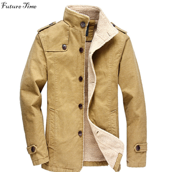 M-6XL Autumn men jacket brand clothing plus size thick warm men jacket and coats single button stand collar male outwear C1428