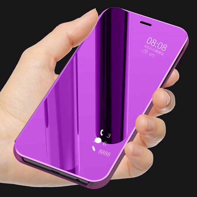 size 40 1e1d5 a51c1 US $3.1 15% OFF|mirror flip cover for samsung galaxy A6 plus case coque  Luxury Flip Cases cover back shell for sansung a6 a6plus 2018 coque case-in  ...
