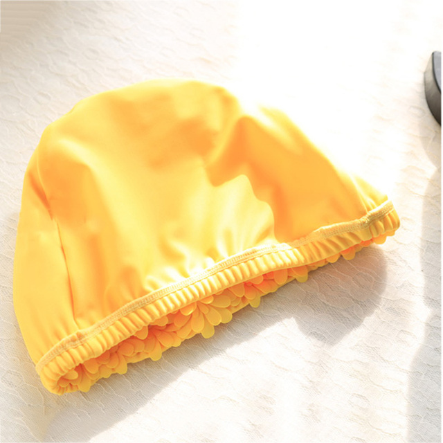 Handmade Pearl Women Adults Swim Pool Cap Colorful Flower Swimming Caps Flower Bathing Cap Protect Ears Hair 1PC Free Size