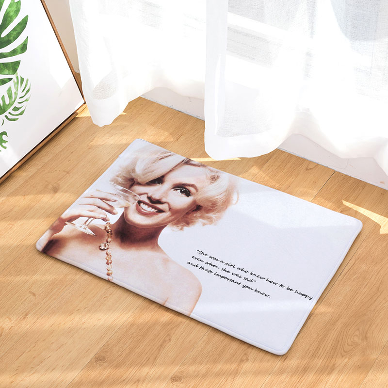 DecorUhome Retro Welcome Waterproof Door Mat Marilyn Monroe Kitchen Rugs  Bedroom Carpets Decorative Stair Mats Home Decor Crafts In Mat From Home U0026  Garden ...