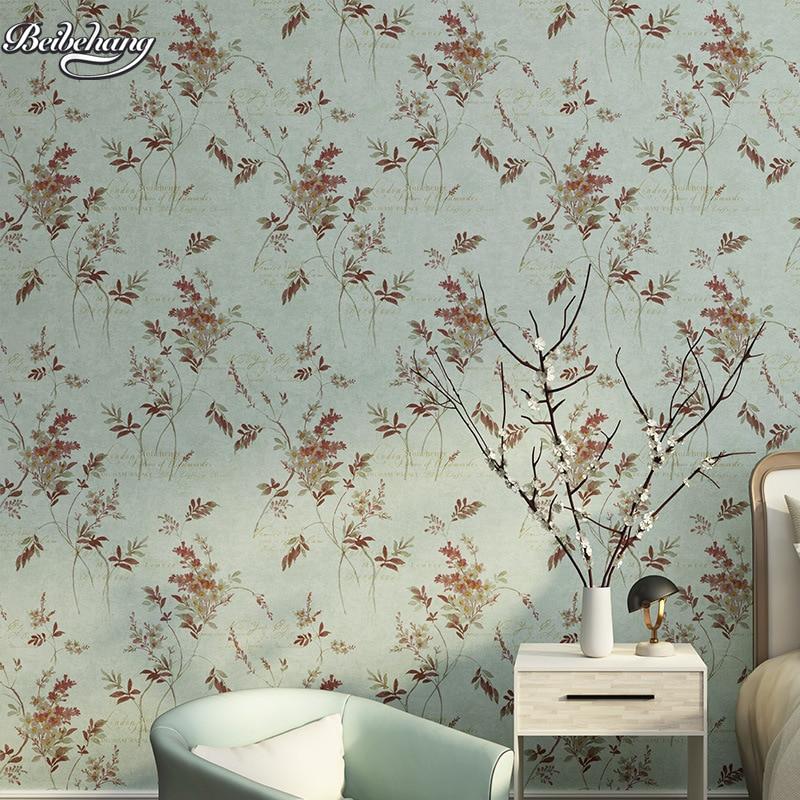 Beibehang coréen pastorale feuillage feuilles nonwovens papier peint chaud chambre hôtel fond salle de mariage lettre anglaise