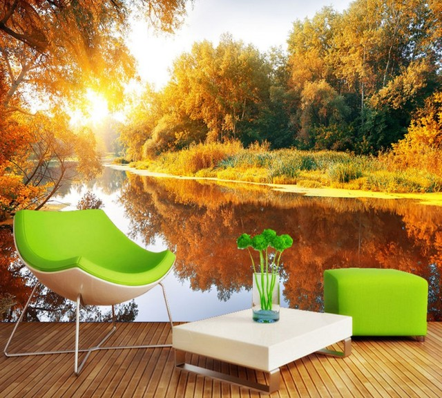 Free Shipping Romantic Warm And Picturesque Tv Background Wall